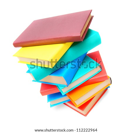 Multi - coloured books . School .