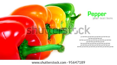 Multi-coloured pepper. A place for your text. - stock photo