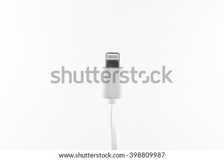multi connector accessories,usb charger cable wire adapter isolated on white background