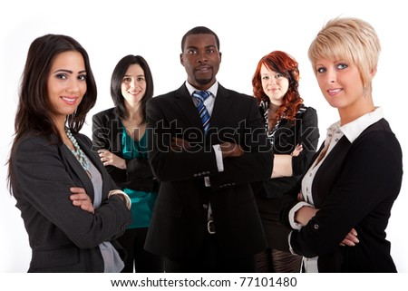 Multi ethnic business team
