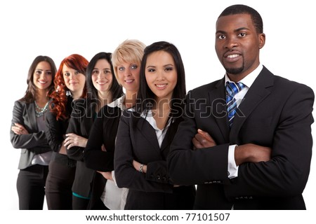 Multi ethnic business team - stock photo