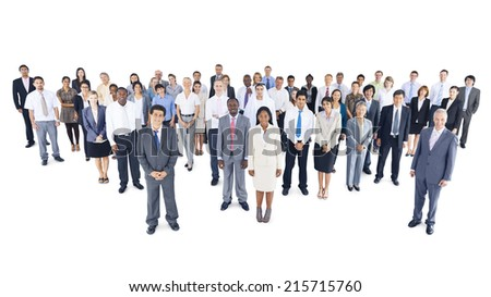 Multi-ethnic group of business person