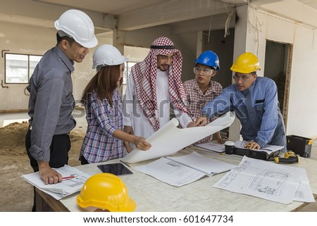 at blueprints engineer female looking stock images, royalty-free