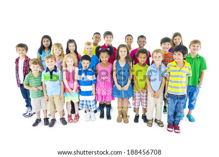Multi-ethnic Group of Children - stock photo