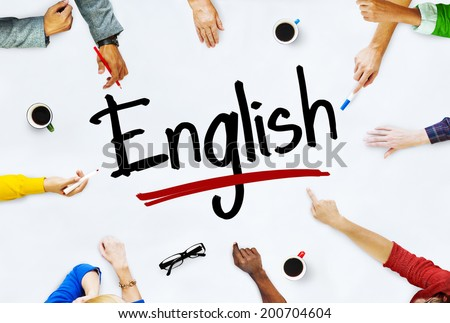 Multi-Ethnic Group of Children and English Concept - stock photo