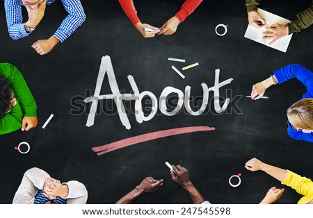Multi-Ethnic Group of People and About Concept - stock photo