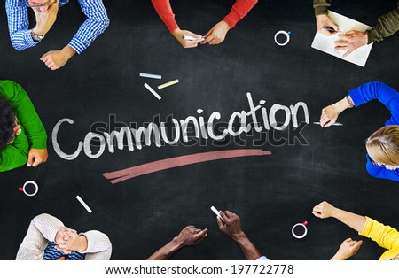 Multi-Ethnic Group of People and Communication Concepts - stock photo