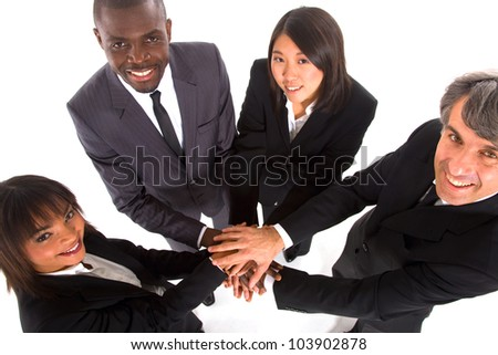 multi-ethnic team - stock photo