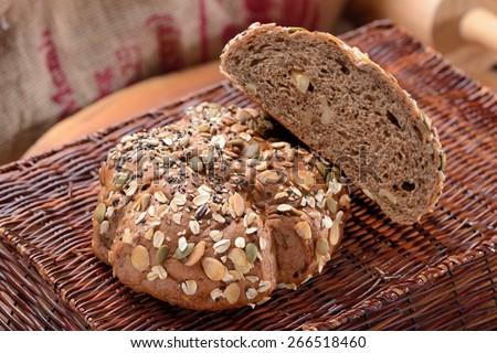 Multi grain Bread - stock photo