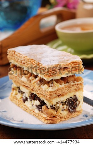Multi-layer biscuit for tea time   - stock photo
