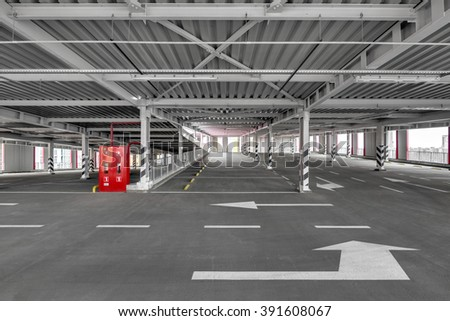 Multi Level Public Parking Space. City Parking