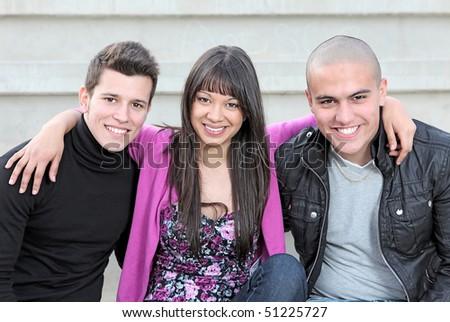 multi racial small group - stock photo