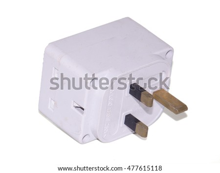 Multi socket electric plug over on the white background.