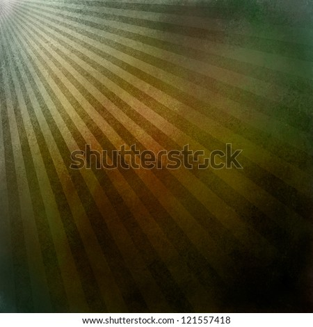 multicolor abstract background retro striped layout, sunburst background texture pattern, vintage grunge background sunrise design, green gold background, brown orange red coloring, warm earth tones - stock photo