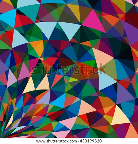 Multicolor abstract bright background with triangles. Elements for design.  - stock photo