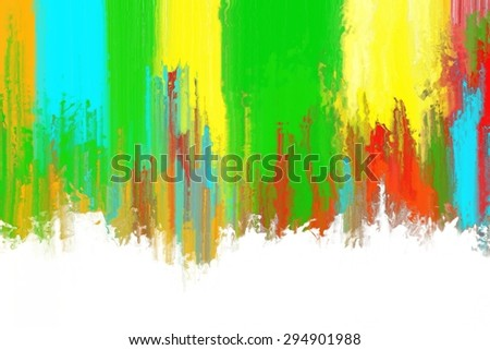 multicolor abstract brush stroke painting texture/multicolor abstract painting on white background/multicolor abstract brush stroke painting texture for background