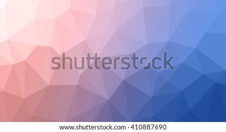 multicolor abstract geometric rumpled triangular low poly style illustration graphic background. Rose Quartz and Serenity colors, abstract background - stock photo