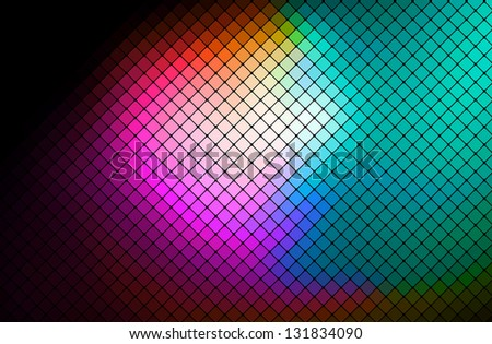 multicolor abstract light disco background square pixel mosaic vector eps 10 - stock photo