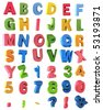 Multicolor Alphabet - stock photo