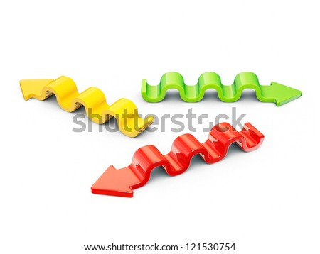 multicolor arrows isolated on a white background