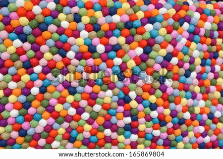 Multicolor Balls of Wool as Design Element - stock photo