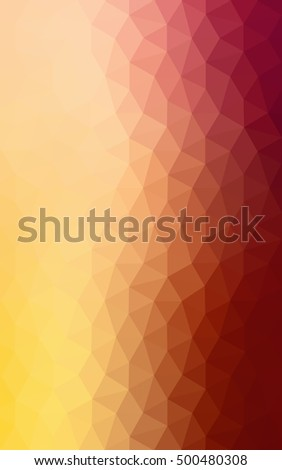 Multicolor dark red, yellow, orange polygonal illustration, which consist of triangles. Geometric background in Origami style with gradient. Triangular design for your business.