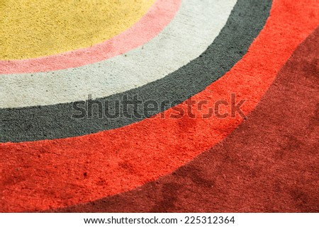 Multicolor design on soft carpet - stock photo