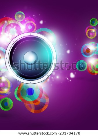 multicolor funky background for music posters and night club flyers