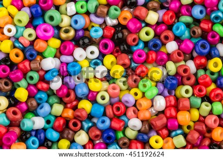 Multicolor glass beads, background