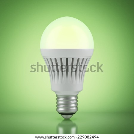 Multicolor LED bulb with wireless remote control  - stock photo
