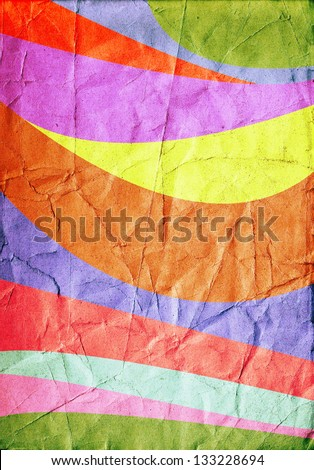 Multicolor retro poster background - stock photo