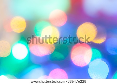 multicolor round blurred highlights - stock photo