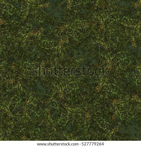 multicolor seamless background pattern texture made of various green leaves