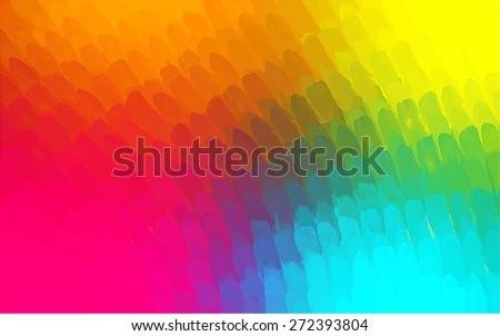 Multicolor small brush strokes background. Raster version - stock photo