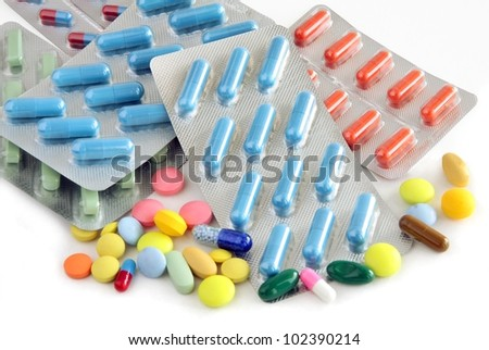multicolor tabs and capsules