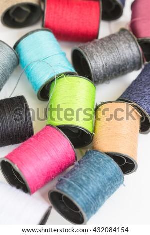 Multicolor thread - stock photo