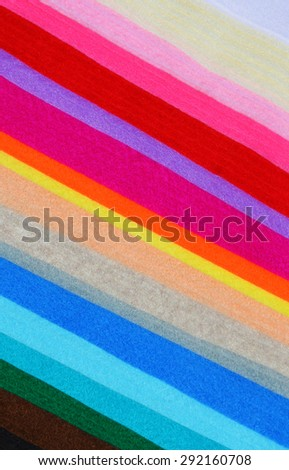 Multicolor wool felt cloth sheets