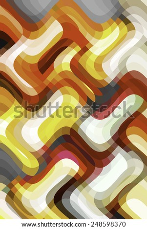 Multicolored abstract of sine waves overlapping vertically and horizontally - stock photo