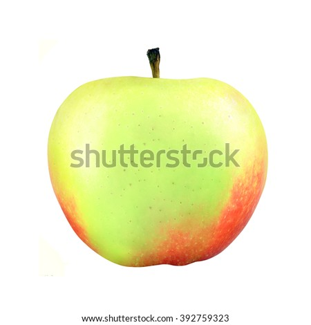 multicolored apple isolated on white background