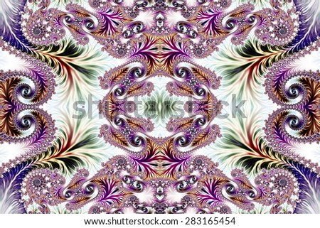 Multicolored Background with Spiral Pattern. Collection - Oriental tales. Artwork for creative design, art and entertainment.  - stock photo