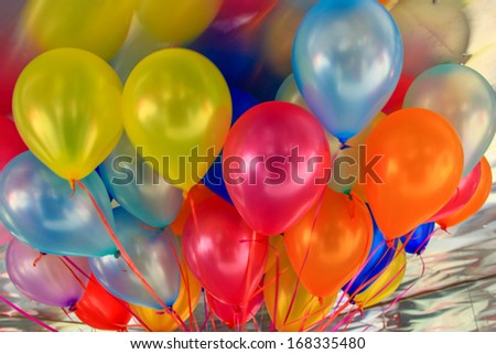 Multicolored balloons background - stock photo