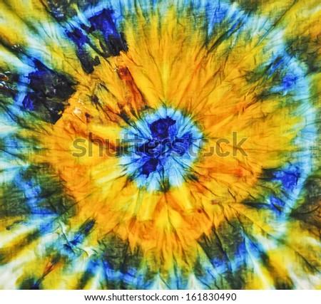 Multicolored batik texture - stock photo