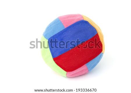 Multicolored beach ball. Isolation. - stock photo