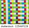 Multicolored Braided Texture - stock photo