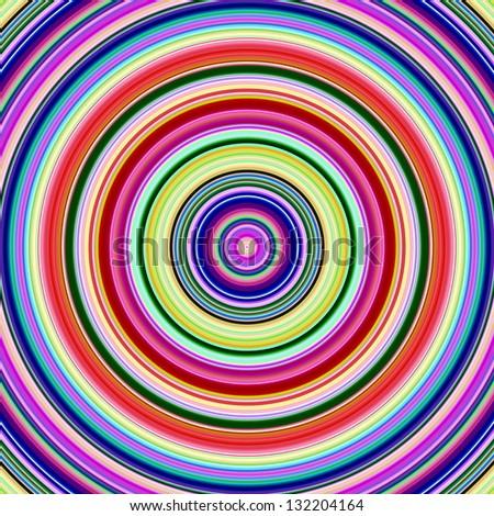 Multicolored bright vibrant circles illustration. - stock photo