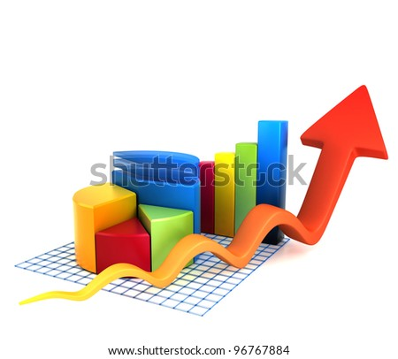 Multicolored Chart - stock photo
