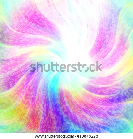 Multicolored colored gentle rays abstract background