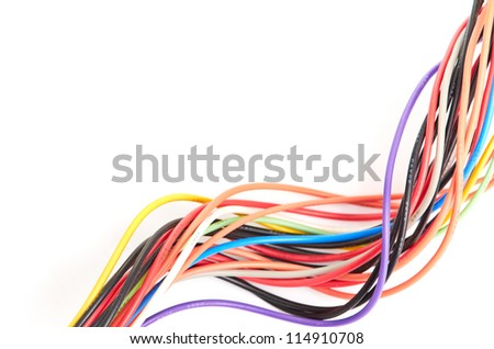 Multicolored computer cable