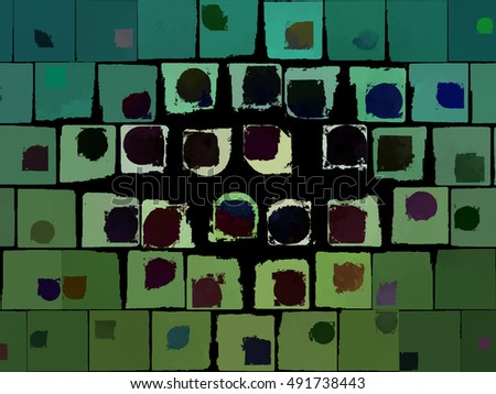 Multicolored creative abstract grunge background. illustration digital.