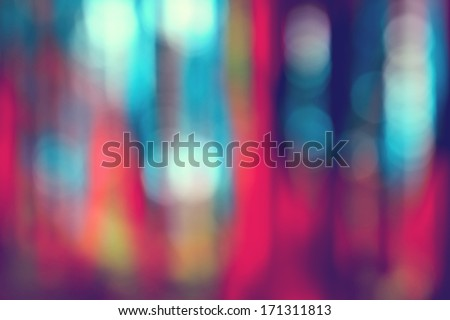 Multicolored defocused bokeh